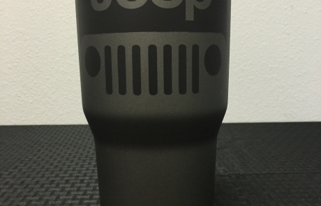Jeep Wrangler themed Tuff Cup with Cerakote.